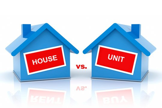 What makes a more popular investment: units or houses?