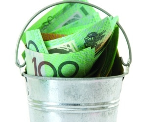 bucket money