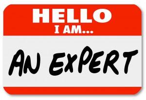 an expert name tag