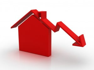 house price down