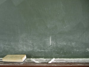 blackboard school lesson