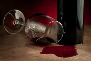 red wine spill carpet damage