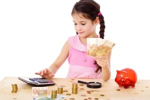 child kid counting money learn