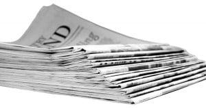 Newspaper reading weekend relax