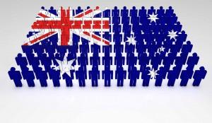 australia flag population demographic country oz aus