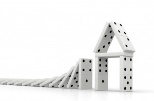domino risk house property market decline fall game