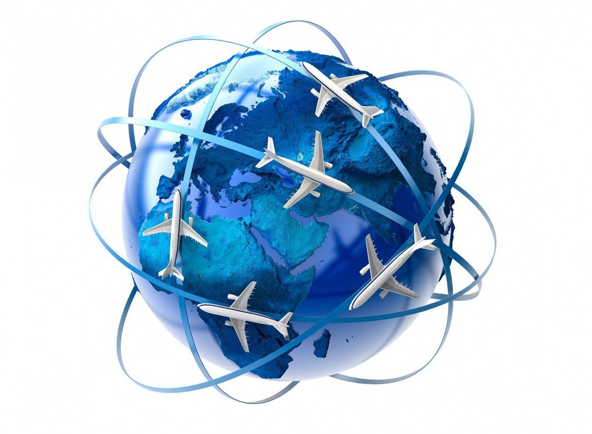 world globe travel plane visit holiday migrate immigrant move