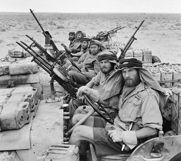 20. British SAS back from a 3-month patrol of North Africa in 1943