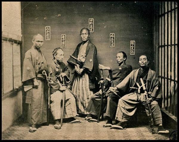 Samurai warriors taken between 1860 and 1880