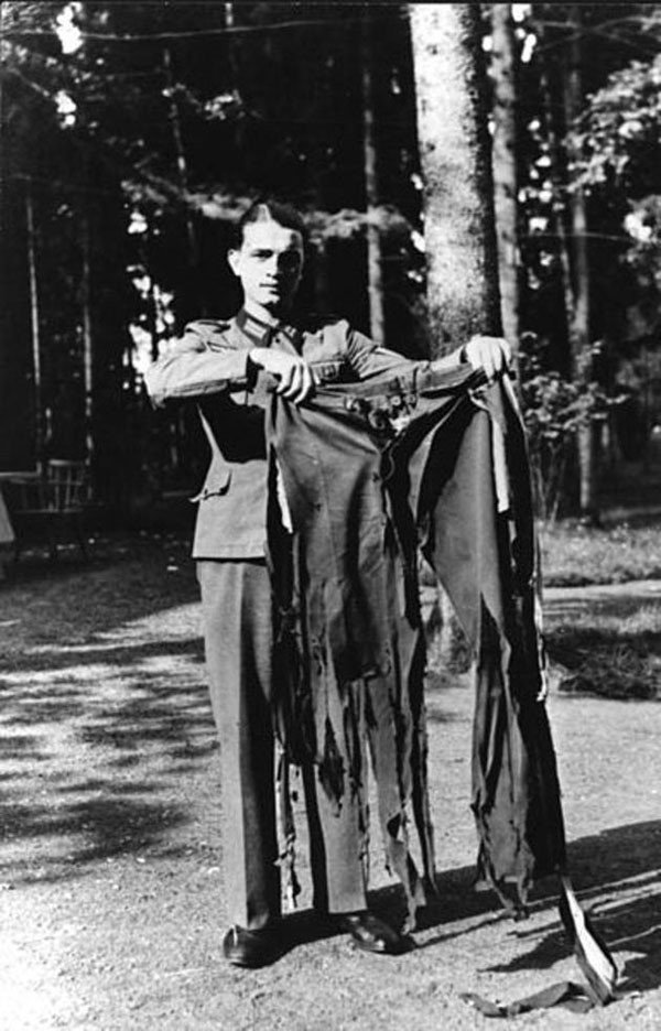 43. Adolf Hitler's pants after the failed assassination attempt at Wolf's Lair in 1944