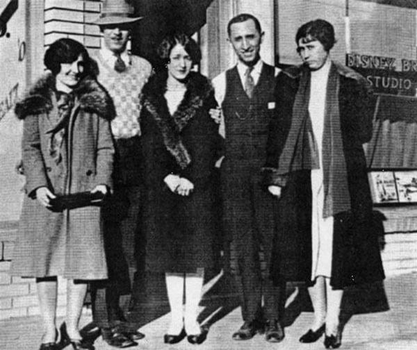 Walt Disney on the day they opened Disney Studios