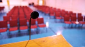 auditorium microphone public speaking leadership success speech