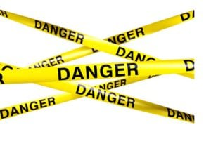 caution tape warning danger mistake