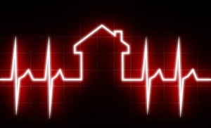 ECG house statistics health property market data watch monitor life alive growth dead die