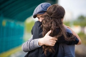 hug forgive couple love marriage relationship man woman embrace