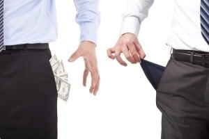 business man poor rich smart budget vs smart spend money work success fail