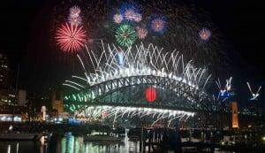 Sydney firework boom celebration australia