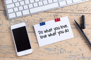 57473209 - paper note with text do what you love, love what you do