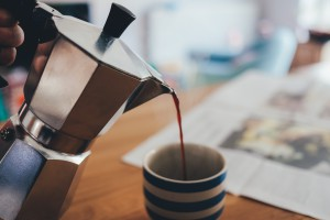 Switching to decaffeinated coffee will help.