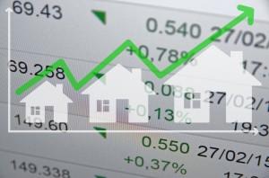 Growing Housing Market. Uptrend Arrow