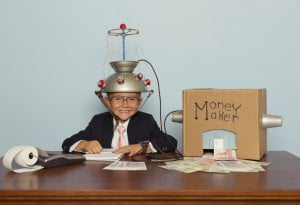 Young Businessman Makes Money With Homemade Money Machine