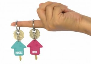 Hand Holds Two Key Of The House