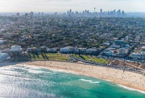 Bondi Beach From Helicopter, Sydney