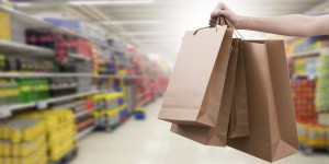 Hands With Shopping Bags, Stores And Shops
