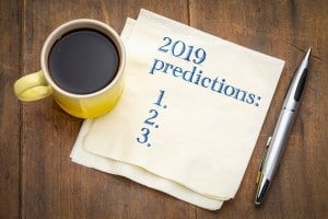 2019 Predictions List On A Napkin