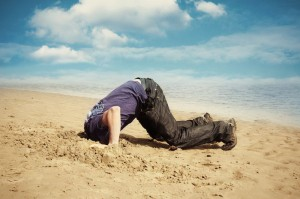 People Who Bury Their Heads In The Sand