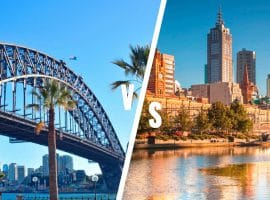 Melbourne versus Sydney — a long standing rivalry