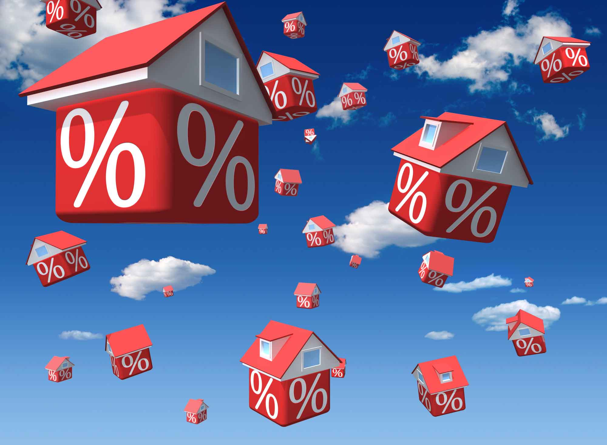 Mortgage demand lifting on lower rates and easier credit, pushing values higher values rise