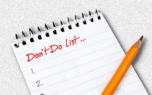 Don T Do List