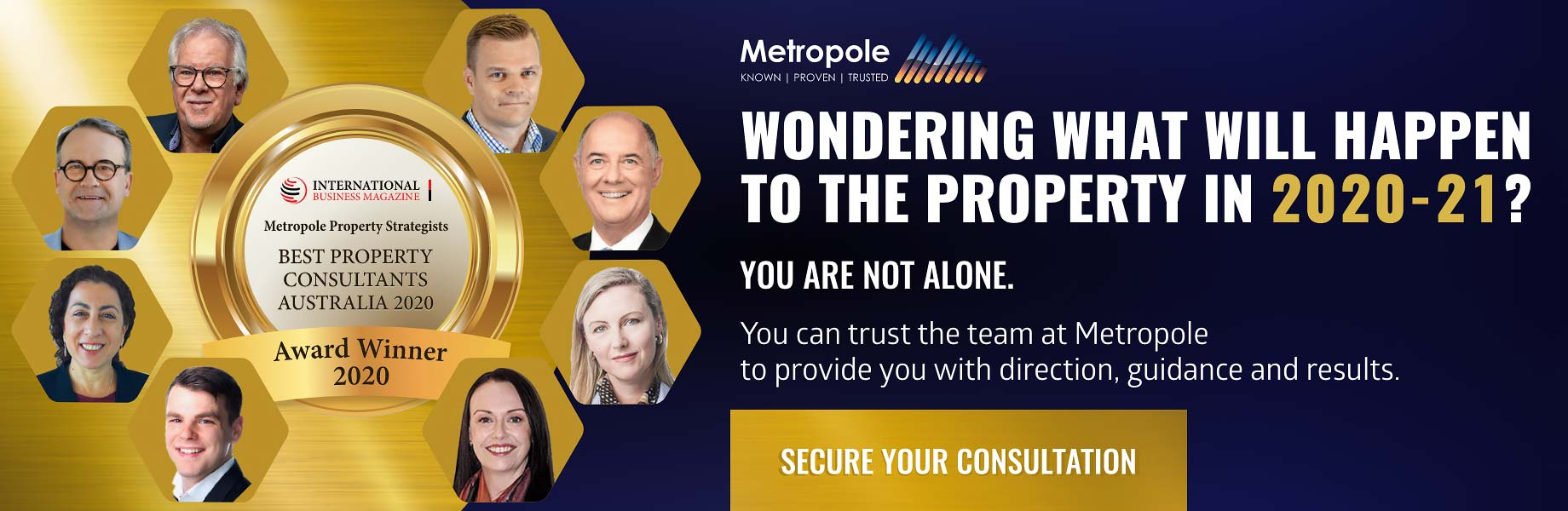 Get the team at Metropole on your side