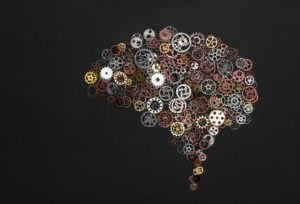 Brain Image Made Out Of Little Cogwheels