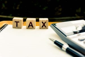 Taxation And Annual Tax Concept