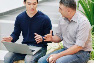 Entrepreneur Offering Mentoring Advice